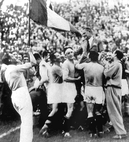 Italian coach Vittorio Pozzo is the only one to ever have won two World Cups (1934 and 1938)
