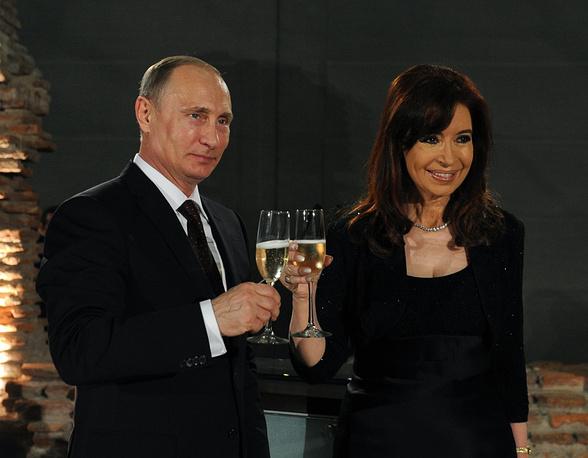 Vladimir Putin and Cristina Fernandez de Kirchner