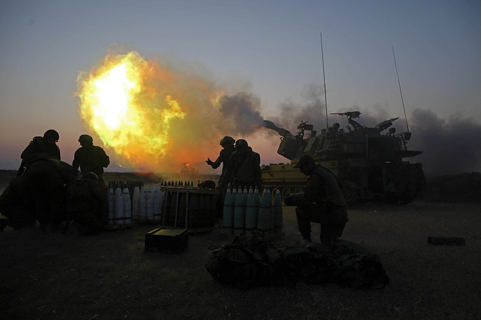 Israeli tank fires near the border with Gaza