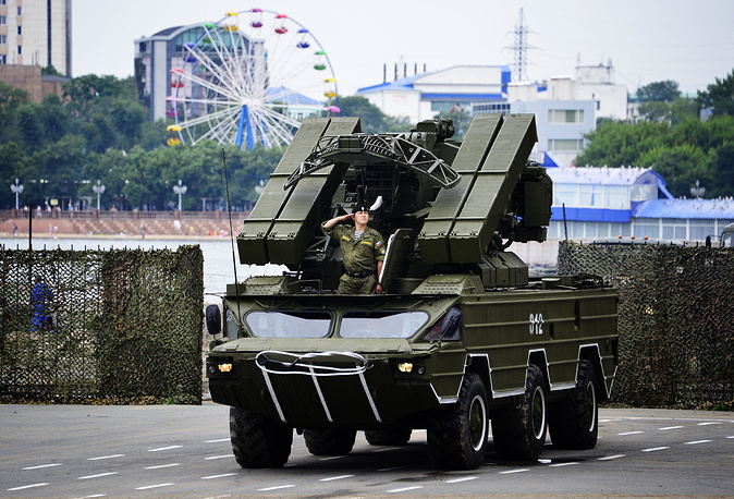 An SA-8 Gecko 9K33 OSA Ground-to-air missile system