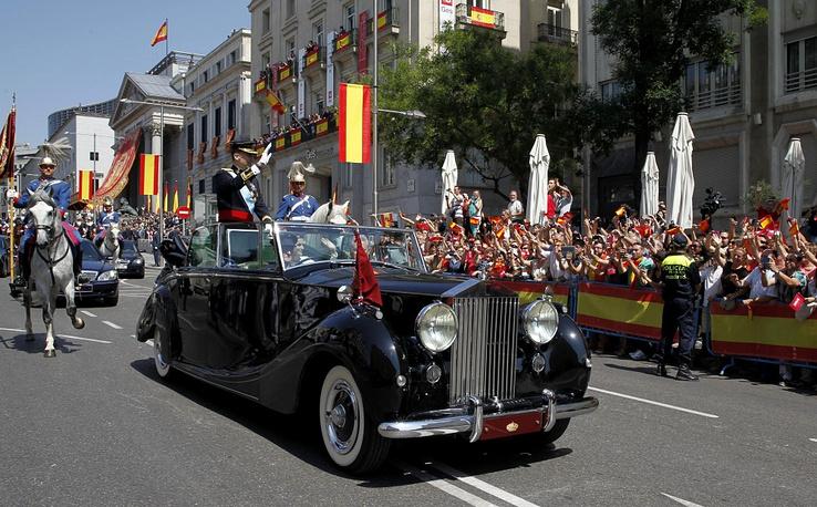 Spain's new King Felipe prefers a Rolls Royce