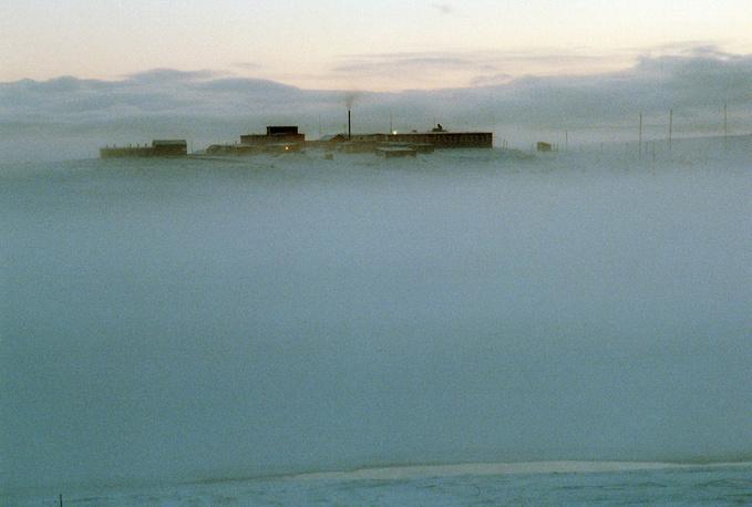 Morning fog in Belushya Guba