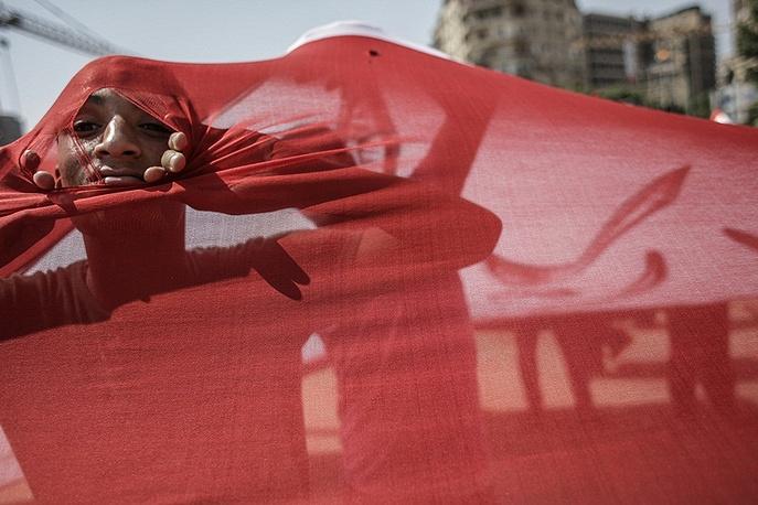 Opponents of then-president Mohamed Morsi in Tahrir Square, Cairo, 2013