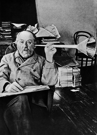Originator of contemporary cosmonautics Konstantin Tsiolkovsky, 1930