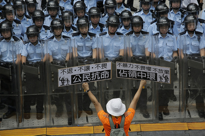 Protesters say that the proposal will allow Beijing to control the selection of candidates at the nomination stage, stressing that this undermines the people's right to freely choose their leader