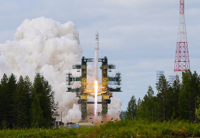 Another Russian cosmodrome – Plesetsk is located in Arkhangelsk region, about 800 km north of Moscow. Creation of ground infrastructure for the new rocket Angara and preparing its launch is part of the federal program aimed at developing Russia's cosmodromes in 2006-2015. Photo: the launch of Angara carrier rocket from Plesetsk spaceport