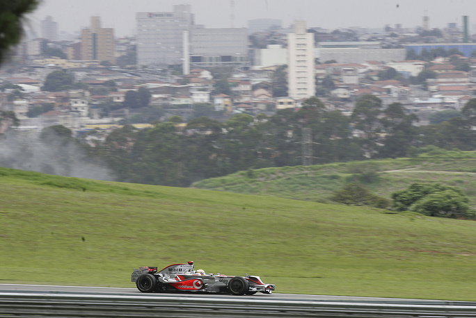 Photo: Interlagos circuit in Sao Paulo, Brazil, October 31, 2008