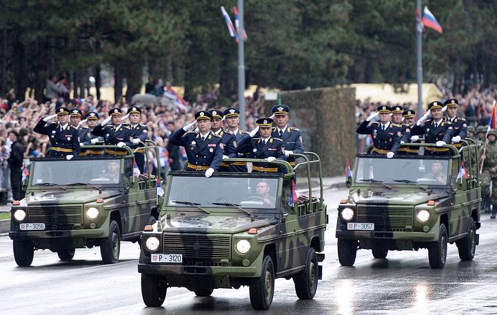 Military parade in Belgrade, 16 October 2014