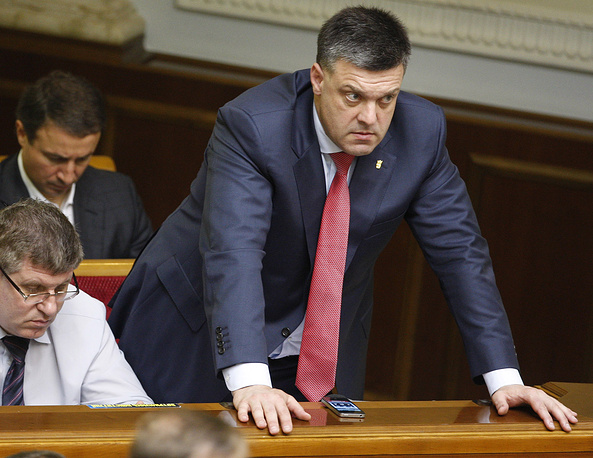Oleh Tyahnybok, leader of the nationalist party Svoboda