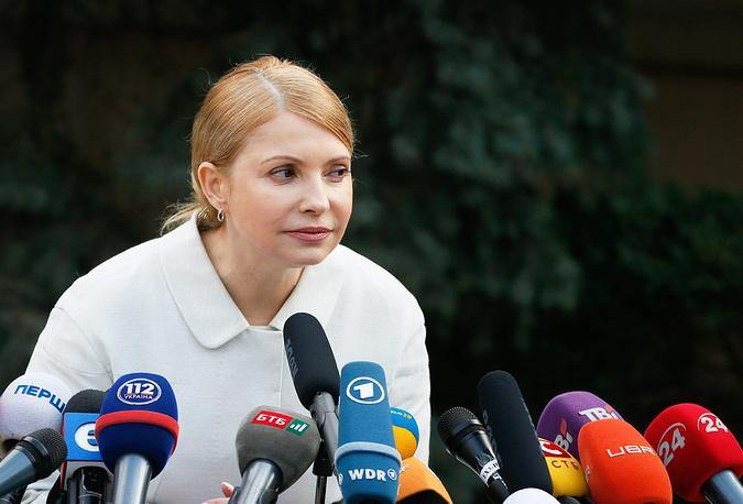 Batkyvshchina party leader Yulia Timoshenko