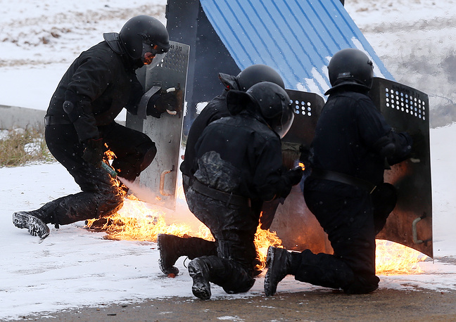 Tactical exercises of Russian Interior Ministry special units