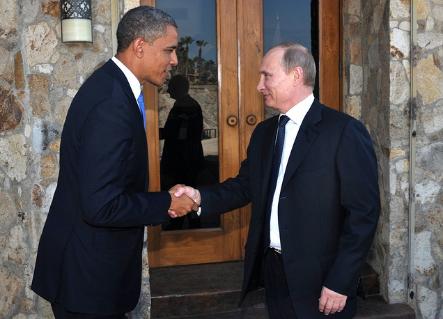 According to the Kremlin spokesman Dmitry Peskov, the meeting between Putin and Obama demonstrated a constructive, open dialogue, not a minus, but a plus. Photo: G20 Summit in Mexico, 2012