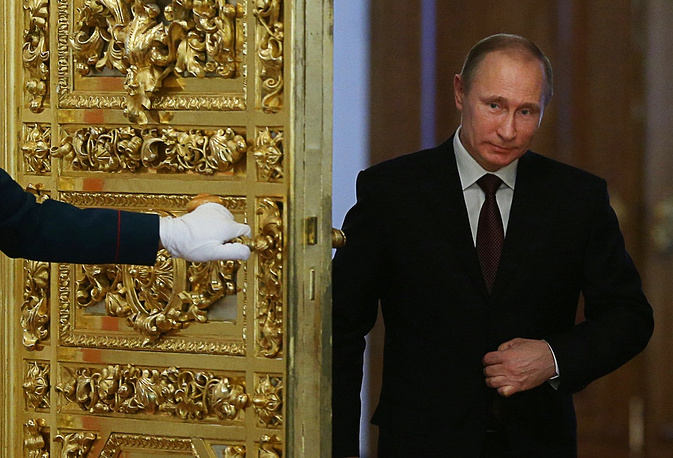 1. Russian President Vladimir Putin. Forbes magazine named Russian President Vladimir Putin the world's most powerful person for the second year in a row. Forbes notes that the choice is based on accession of Crimea to Russia and also Russian-Chinese $70 billion contract on the construction of gas pipeline