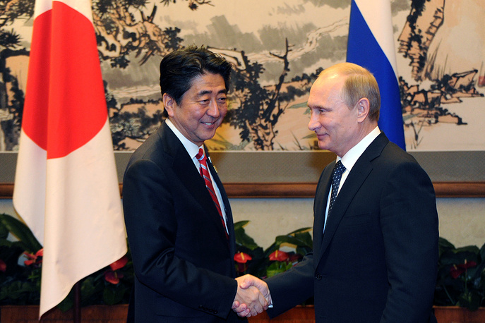 Japanese leader Shinzo Abe and Russian leader Vladimir Putin had talks on the sidelines of the Asia-Pacific Economic Cooperation summit. They exchanged views on a wide range of issues — a peace treaty and cooperation in all areas, including economy, culture, security and international problems