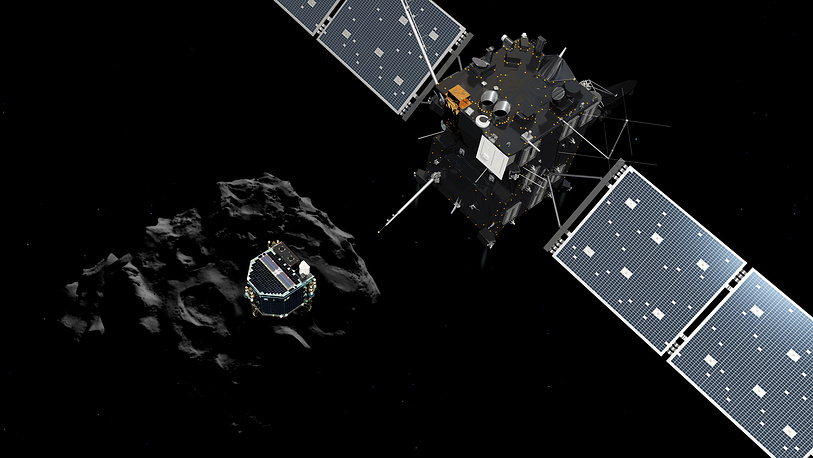 Scientists obtained the first images taken by robotic lander Philae of the European Space Agency, which had separated from the spacecraft Rosetta and landed on the comet 67P/Churyumov-Gerasimenko 500 million kilometers away from the Earth