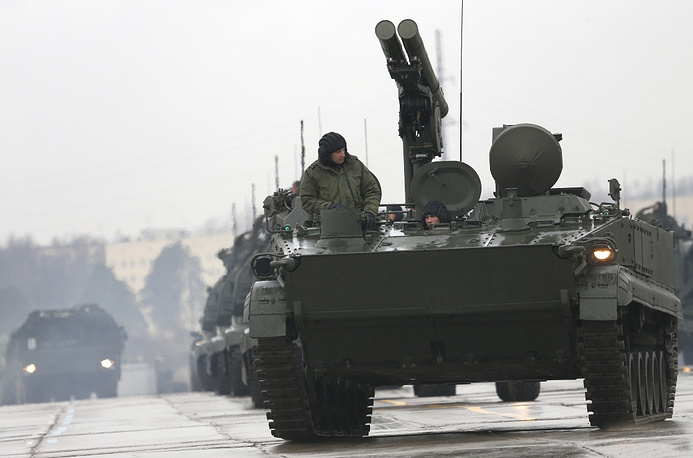 Khrizantema is a Russian supersonic anti-tank missile, designed to deal with current and future generations of main battle tanks and to engage slow and low flying aerial targets like helicopters. It is unique among Russian anti-tank guided missiles as it can either be guided by laser or radar