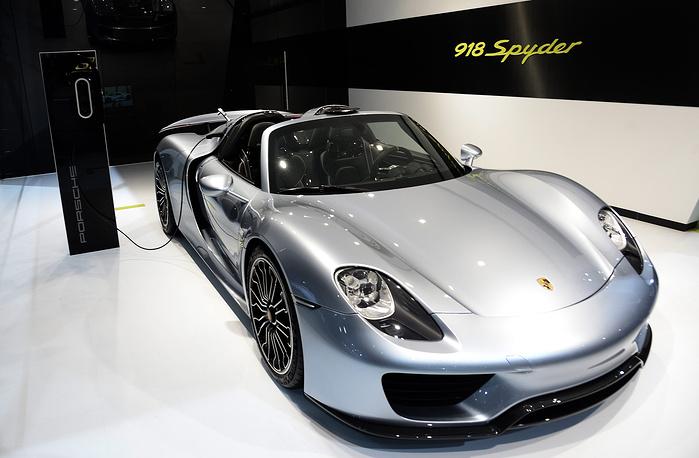Porsche 918 Spyder at the New York International Auto Show, USA, 2014