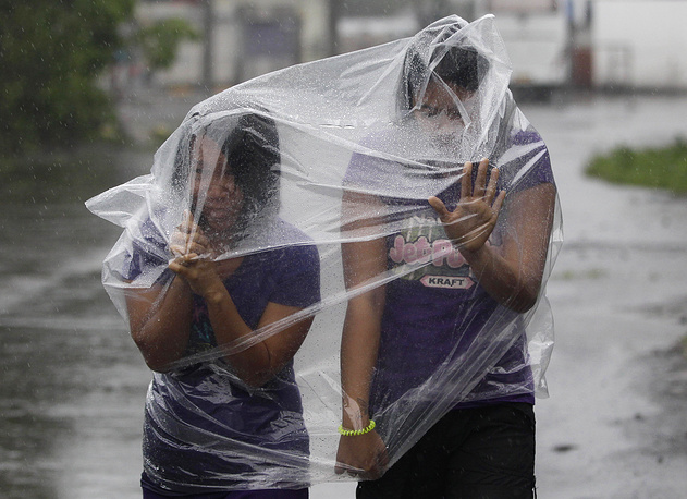 Typhoon Hagupit slammed into the central Philippines' east coast on December 6