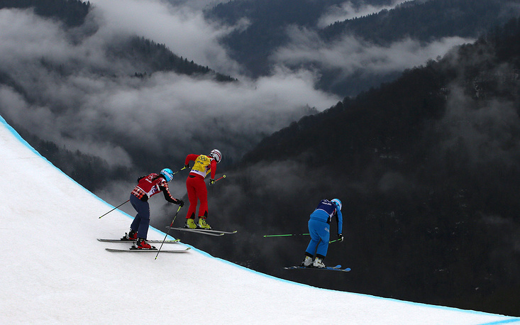 Women's skicross freestyle skiing competition at the Sochi Olympics