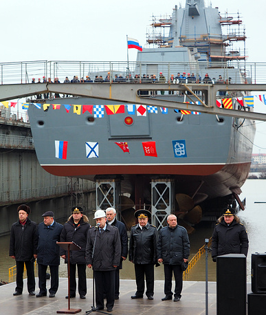 The third Project 22350 frigate named Admiral Golovko will be set afloat at the end of the next year. Photo: Admiral Kasatonov frigate