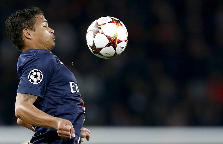 Paris Saint Germain's Thiago Silva
