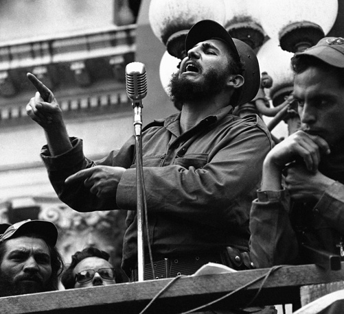 The Cuban Revolution had great domestic and international consequences. It reshaped Cuba's relations with the United States. Photo: Fidel Castro making a speech in Colon, Cuba January 7, 1959
