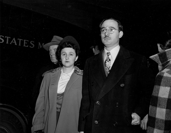 Julius and Ethel Rosenberg were charged with espionage for the Soviet Union. The Rosenbergs were convicted of passing nuclear weapons secrets to the Soviet Union and were executed in 1953