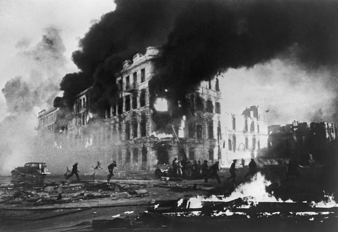 Air strike on Stalingrad by Nazi German forces