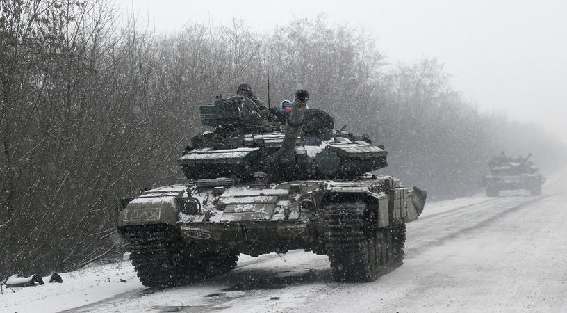 Ukrainian troops near Debaltseve