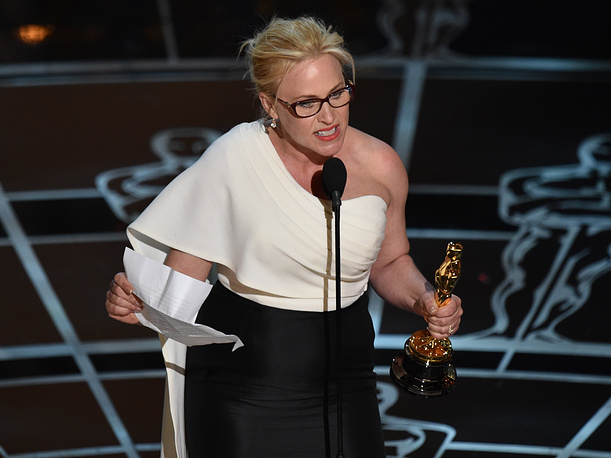 """Patricia Arquette received the award for best actress in a supporting role for """"Boyhood"""""""