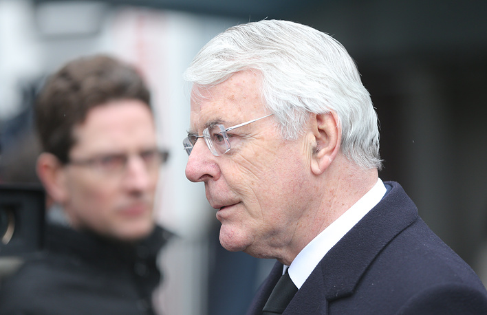 John Major, former prime minister of the UK ahead of a mourning ceremony