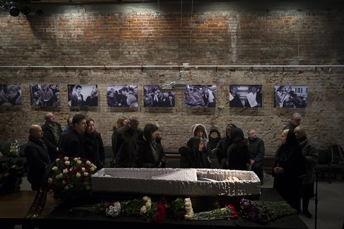 Mourning ceremony for Russian opposition leader Boris Nemtsov