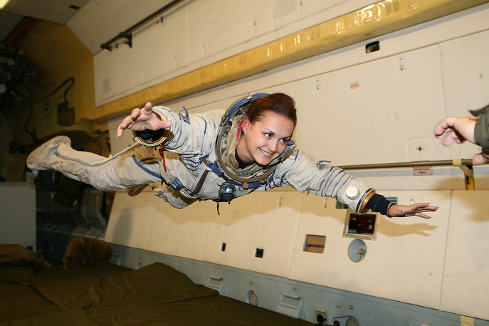 Yelena Serova became the first female Russian cosmonaut to visit the International Space Station on 26 September 2014
