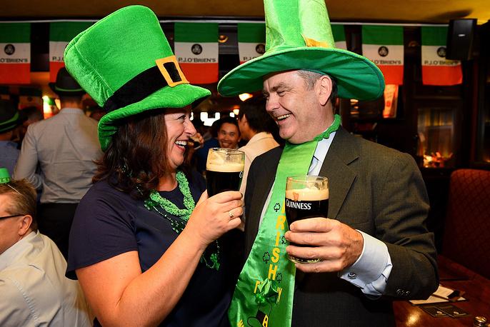 Saint Patrick's Day celebration in the Irish pub in Sydney, Australia