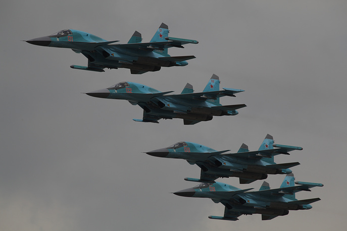 Su-34 mass production is organized at the Novosibirsk-based Chkalov aircraft building center, which belongs to the Sukhoi holding