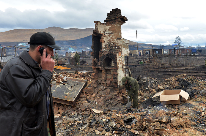 5 thousand people suffered in the fire that swept residential dwellings in the Republic of Khakassia in south Siberia