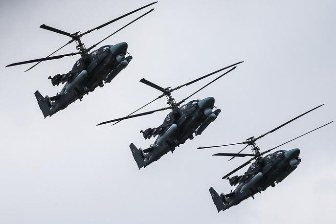 Kamov Ka-52 combat helicopters