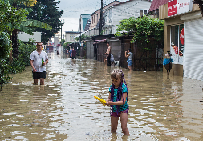 Some 800 people are affected by the floods