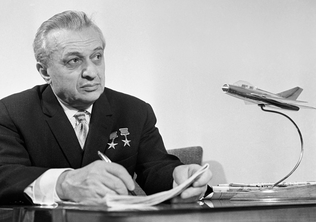 Soviet aircraft designer Artem Mikoyan who created many of the famous MiG military aircraft