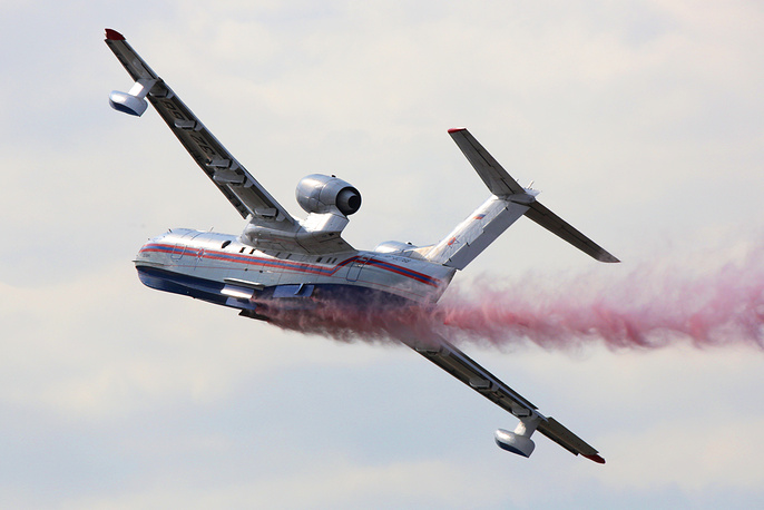 Multipurpose amphibious Be-200 aircraft