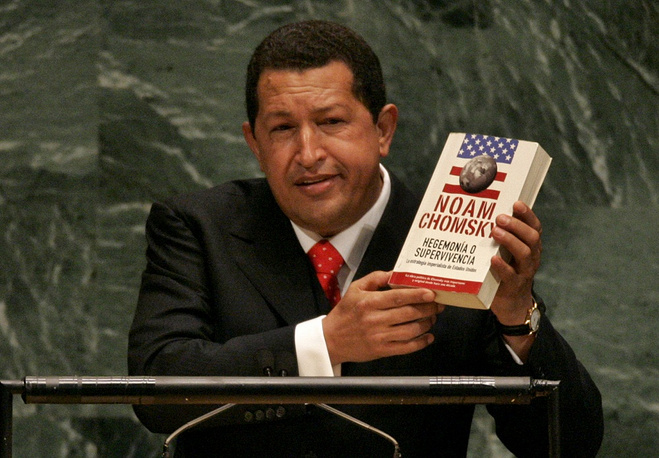 """On September 20, 2006 former Venezuelan President Hugo Chavez delivered a speech to the UN General Assembly damning US President George W. Bush. In particular, he said: """"The devil came here yesterday, and it smells of sulfur still today, this table that I am now standing in front of"""""""