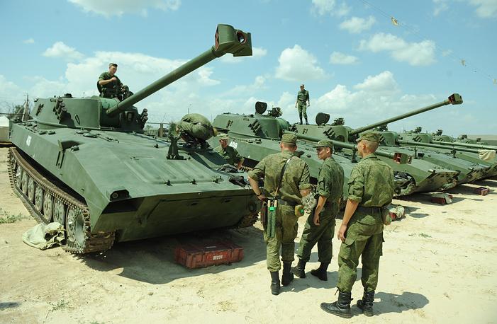 2S34 Hosta with the 122mm gun is a modernized version of the 2S1 Gvosdika