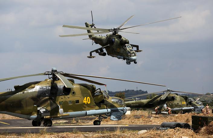 Mi-24 combat helicopters