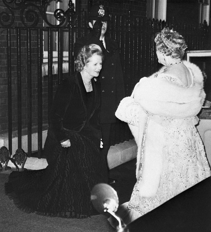 Thatcher's conviction politics, economic, social policy, and political style was called Thatcherism. She was re-elected for a third term in 1987. Photo: Prime Minister Margaret Thatcher and Queen Elizabeth II, 1980