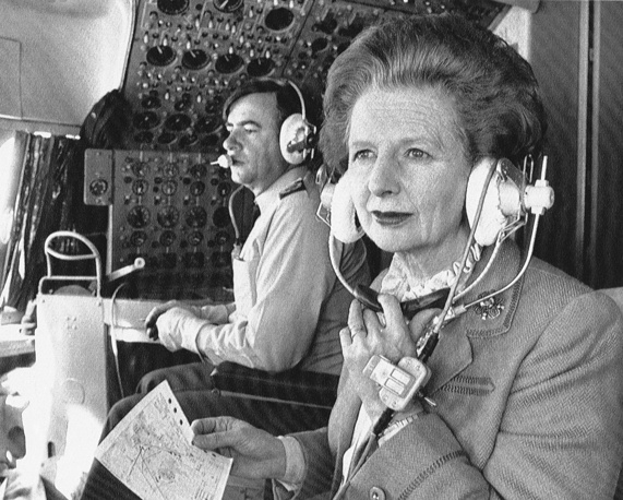 Thatcher returned to the backbenches as MP for two years after leaving the premiership. Photo: Margaret Thatcher sits in the cockpit in her Royal Air Force ve-10 during the flight to Hong Kong from Peking, 1984