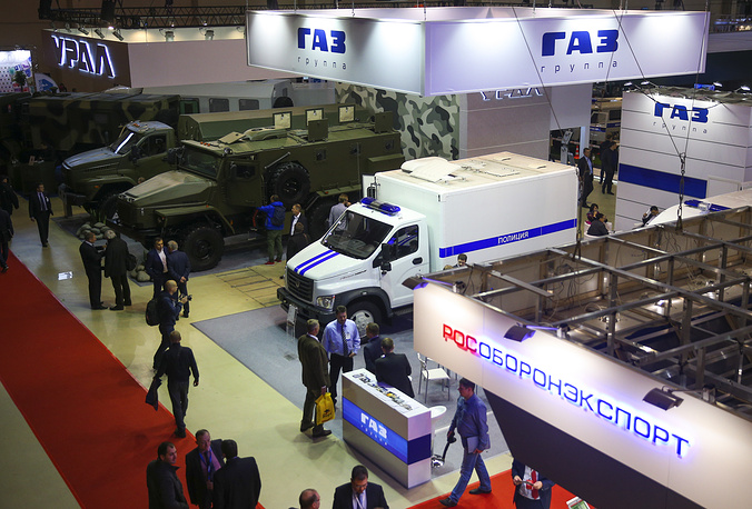 The GAZ Group stand at the Interpolitex 2015 International exhibition