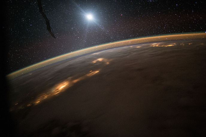 A nighttime view of the Earth, August 10, 2015