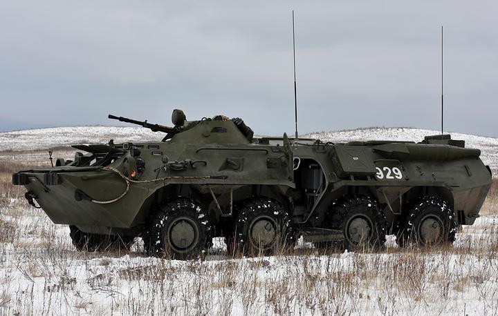 RHM-4 chemical reconnaissance vehicle based on BTR-80 armoured vehicle