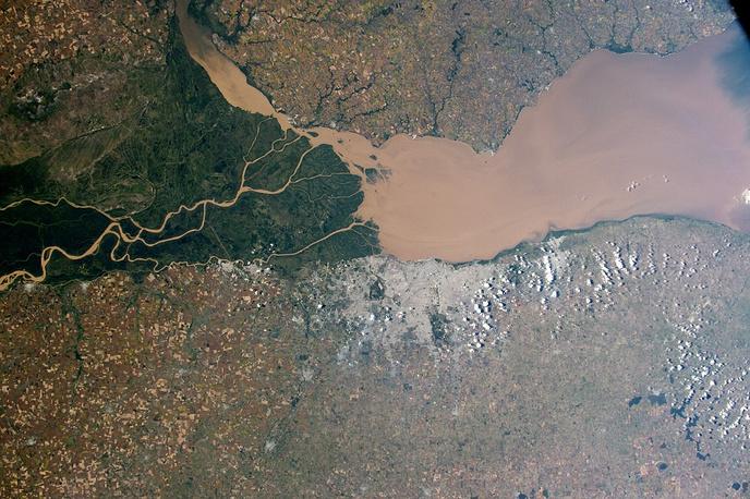 Parana River on the Atlantic coast of Argentina