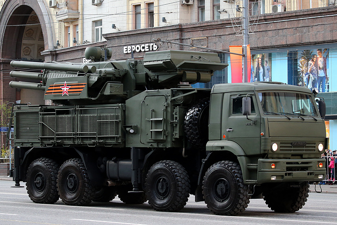 Pantsir S-1 short range air defense system on Kamaz chassis